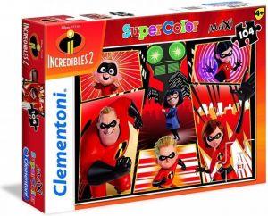 Clementoni puzzle 104 dílků MAXI - Úžasňákovi 2    23723