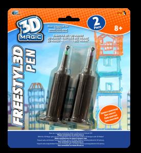 EP Line 3D Magic náhradní náplň do Freestyl3D Pen - 2ks  oranžová a modrá