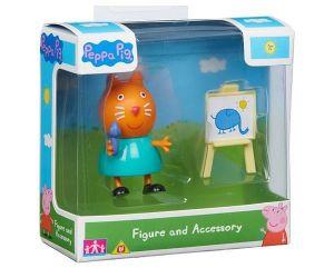 Peppa Pig - prasátko Peppa - figurka s doplňky II.  kočka Candy s malířským stojanem