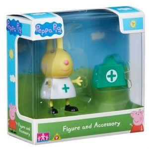 Peppa Pig - prasátko Peppa - figurka s doplňky II.  Rebecca - zdravotní sestřička s lékarničkou