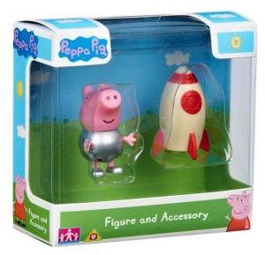 Peppa Pig - prasátko Peppa - figurka s doplňky II.  Tomík s raketou