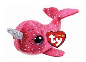 Plyšák TY - Teeny Ty´s - malá plyšová zvířátka - růžový narval Nelly 10 cm