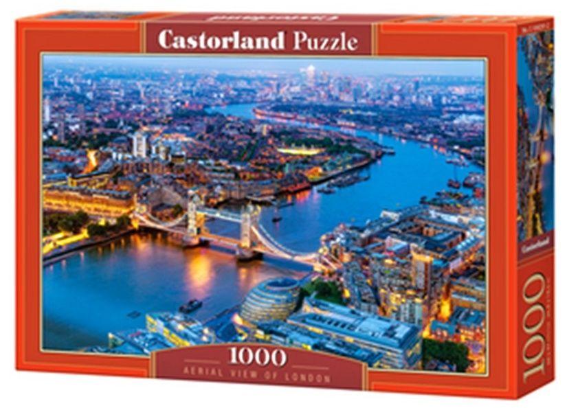 Puzzle Castorland 1000 dílků - Letecký pohled na Londýn 104291