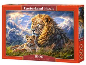 Puzzle Castorland  1000 dílků - Lev s mládětem    104277