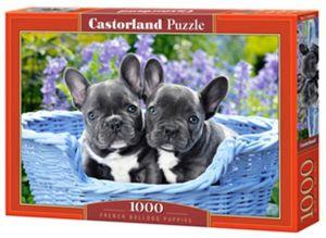 Puzzle Castorland  1000 dílků - Štěňátka francouzských buldočků   104246