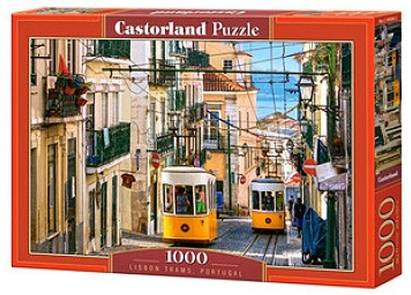 Puzzle Castorland 1000 dílků - Tramvaje v Lisabonu , Portugalsko 104260