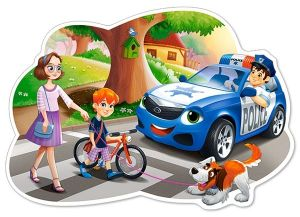 Puzzle Castorland 12 dílků MAXI - Policie 120215