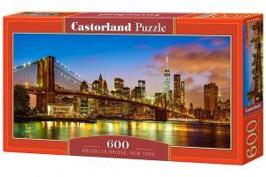 Puzzle Castorland 600 dílků panorama - Brooklynský most New York 060399
