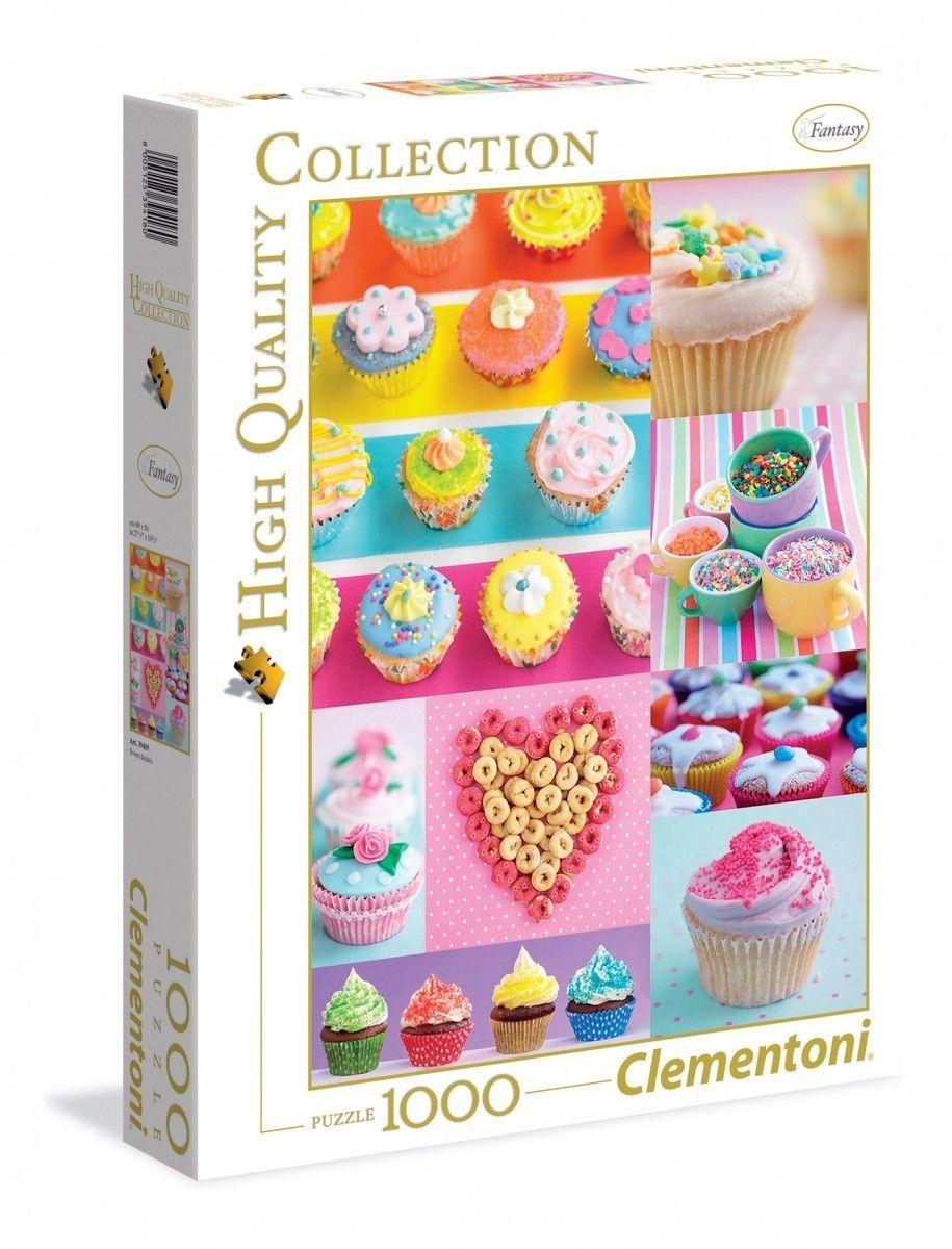 Puzzle Clementoni 1000 dílků - Sladké muffíny 39419