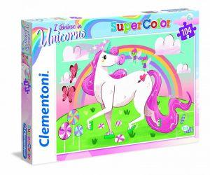 Puzzle Clementoni 104 dílků  - Jednorožec  27109