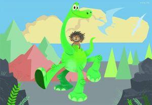 Puzzle Ravensburger 2x12 dílků Hodný dinosaurus 075959