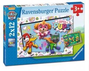 Puzzle Ravensburger  2x12 dílků  Psí Tlapková Patrola 076130