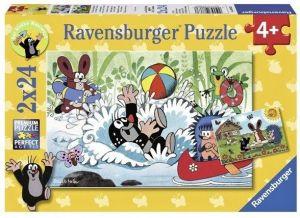Puzzle Ravensburger  2x24 dílků  Krteček a kamarádi   088638