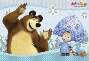 Puzzle Ravensburger 2x24 dílků Máša a Medvěd 090464