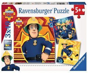 Puzzle Ravensburger  3 x 49 dílků  - Požárník Sam  093861