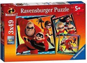 Puzzle Ravensburger  3 x 49 dílků  - Úžasňákovi 2  080533