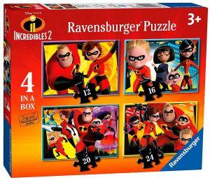 Puzzle Ravensburger  4v1 12, 16, 20 a 24  dílků  Úžasňákovi 2