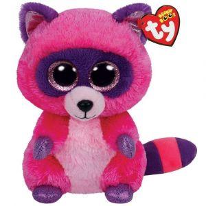 TY Beanie Boos - ROXIE - fialovo-růžový mýval   36146 - 15 cm plyšák