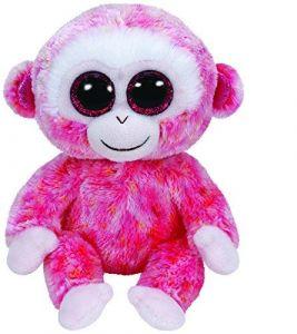 TY Beanie Boos - Rubby - červenobílá opička  36122 - 15 cm plyšák