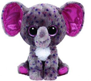 TY Beanie Boos - Specks - šedý - kropenatý slon  36156 - 15 cm plyšák