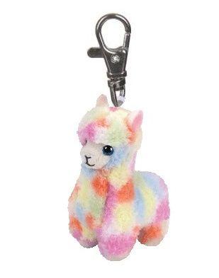 TY - Plyšový přívěšek - duhová lama Lola s velkýma očima 8,5 cm TY Inc. ( Meteor )