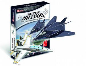 3 D Puzzle CubicFun - F-117 Nightyhawk & F/A - 18 Hornet