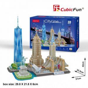 3D puzzle CubicFun CityLine - New York City 123 dílků