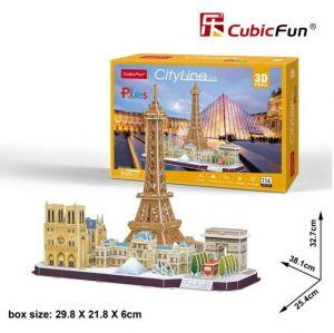 3D puzzle CubicFun CityLine - Paris  114 dílků