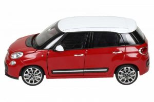 Auto Welly 1:24 Fiat 500L 2013 červeno-bílý