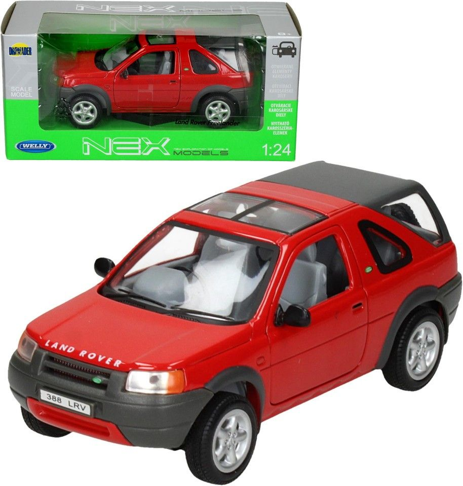 Auto Welly 1:24 Land Rover Freelander červený