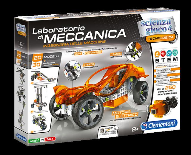 Clementoni - mechanická laboratoř - kreativní sada s motorkem 60595