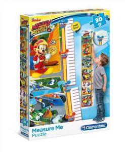 Clementoni Růstový metr 30 dílků Metr Mickey a závodníci