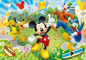 Dětské puzzle Clementoni 60 dílků - Mickey Mouse - závodníci 08434