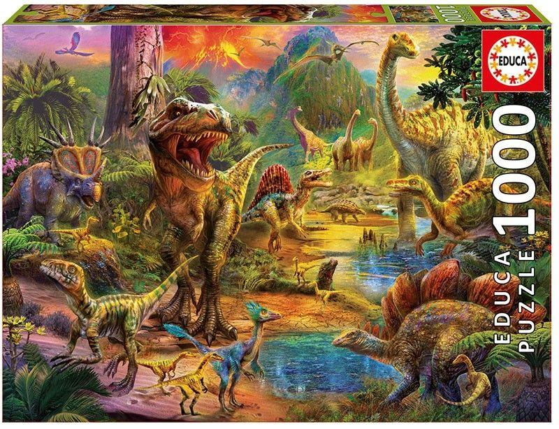 EDUCA Puzzle 1000 dílků - Dinosauři 17655