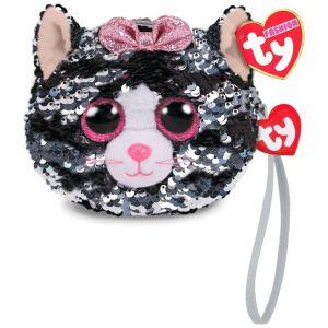 Meteor TY - plyšová kabelka do ruky s flitry   -  kočička Kiki   95220