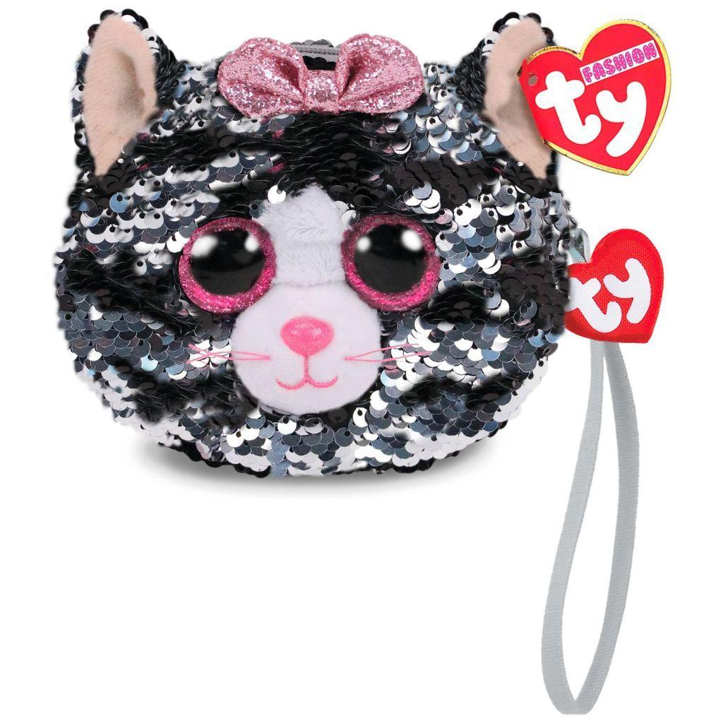 Meteor TY - plyšová kabelka do ruky s flitry - kočička Kiki 95220 TY Inc. ( Meteor )
