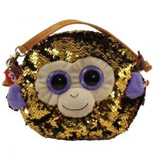 Meteor TY - plyšová kabelka na rameno  s flitry - opice Coconut  95122