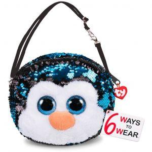 Meteor TY - plyšová kabelka na rameno  s flitry - tučňák Waddles  95129