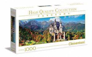Puzzle Clementoni 1000 dílků  panorama - Neuschwanstein   39438