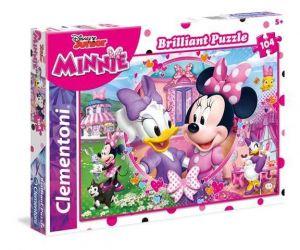 Puzzle Clementoni - 104 dílků  Briliant   -  Minnie - šťastní pomocníci  20145