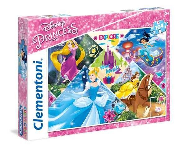 Puzzle Clementoni 104 dílků - Disney Princezny 27091