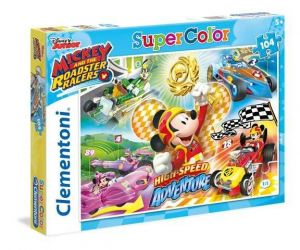 Puzzle Clementoni 104 dílků  -  Mickey Mouse - závodníci  27085