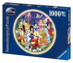 puzzle Ravensburger 1000 dílků kulaté - Disney rodina -  157846