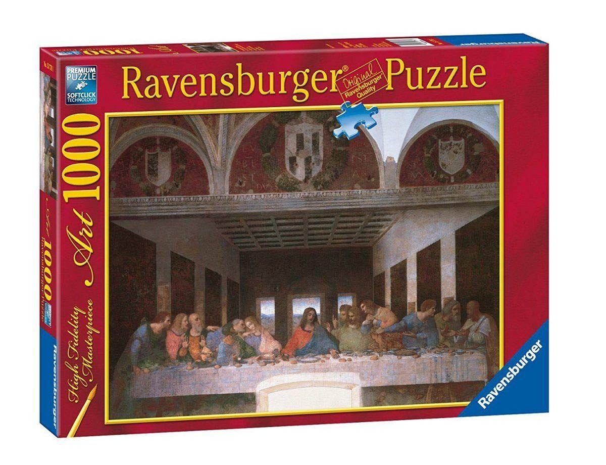 Puzzle Ravensburger 1000 dílků - Leonardo da Vinci - Poslední večeře 157761