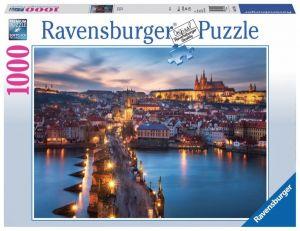 Puzzle Ravensburger 1000 dílků - Praha v noci   197408