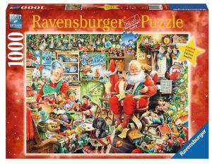 Puzzle Ravensburger  1000 dílků - Santa s dárky 195589