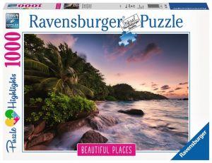 puzzle Ravensburger 1000 dílků - Seychely - ostrov Praslin   -  151561