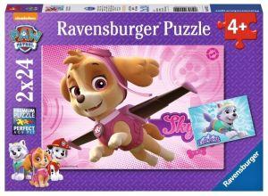 Puzzle Ravensburger  2x24 dílků  - Tlapková patrola 091522