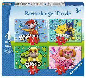 Puzzle Ravensburger  4v1 12, 16, 20 a 24  dílků  Psí tlapková patrola  069231
