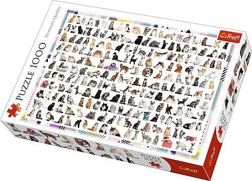 Puzzle Trefl 1000 dílků - 208 koček 10498